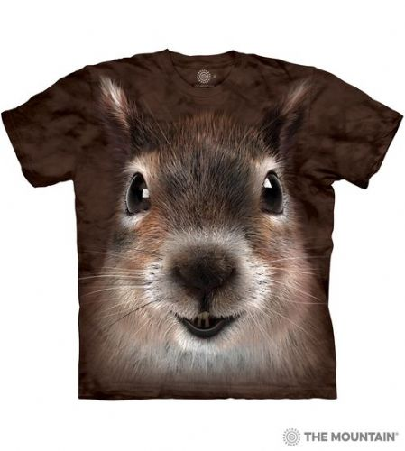 Squirrel Face T-shirt | Adult Big Face™ T-shirts | The Mountain®